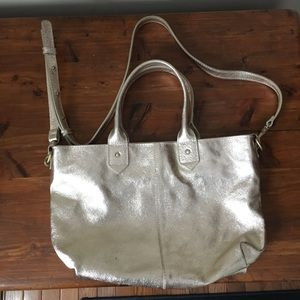 AE Gold Leather Bag